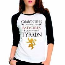 Camiseta Game Of Thrones Got Tyrion Lannister Babylook 3/4 - Eanime