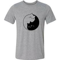 Camiseta Gato Gatinhos Yin Yang Fofo Engraçada - Gv Varejo