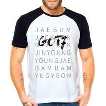 Camiseta Got7 Integrantes Kpop Raglan Manga Curta - Eanime