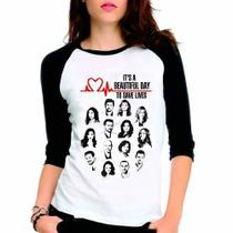 Camiseta Greys Anatomy Beautfiul Day Raglan Babylook 3/4 - Eanime