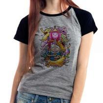 Camiseta Hora De Aventura V2 Mescla Babylook Feminina - Eanime