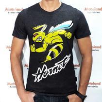 Camiseta Hornet Moto GP All Boy Preta Mescla 234 -