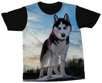 Camiseta Husky Siberiano Camisa Cachorro de Raça - Darkwood