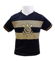3995b5dd4 Camiseta Infantil Corinthians Estampa Dourada Oficial - Revedor