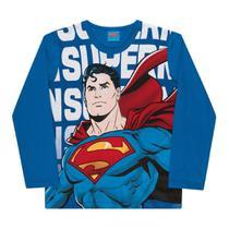 Camiseta Infantil Kamylus Manga Longa Liga da Justiça Masculina -