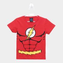 Camiseta Infantil Kamylus Meia Malha Liga Da Justiça Masculina -