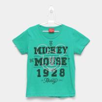 Camiseta Infantil Kamylus Meia Malha Mickey Mouse -
