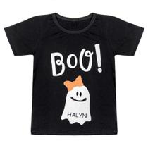 Camiseta Infantil Look Jeans Fantasma Preta -