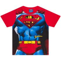 46037391a Camiseta Infantil Masculino Superman com Máscara Vermelho - Marlan