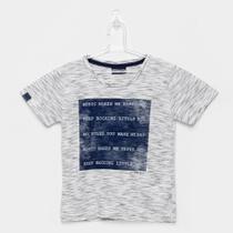 Camiseta Infantil Quimby Manga Curta Meia Malha -
