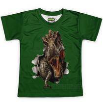 Camiseta Infantil T-rex Dinossauro Tiranossauro Rex - Over Fame