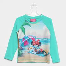 Camiseta Infantil Tip Top Manga Longa Minnie Praia Menina -