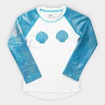 Camiseta Infantil Tip Top Moda Praia Sereia FPS+50 Feminina -