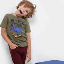 Camiseta Infantil Zeep! Dino Skate Masculina -