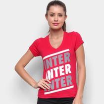 Camiseta Internacional Listras Retrô Mania Feminina - Retrômania