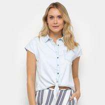 Camiseta Jeans Malwee Tradicional Amarração Feminina -