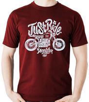 Camiseta Just Ride Moto Motociclista Motoqueiro - Dragon Store