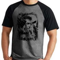 Camiseta Justiceiro The Punisher Marvel Série Mescla Curta - Eanime