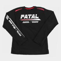 Camiseta Juvenil Fatal Seja Mais Manga Longa Masculina -