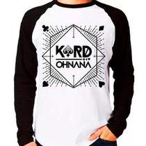 Camiseta Kard K.a.r.d Oh Nana Kpop Raglan Manga Longa - Eanime