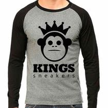 Camiseta Kings Sneakers Raglan Mescla - Eanime