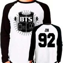 Camiseta Kpop Bangtan Boys Bts Jin Raglan Manga Longa - Eanime