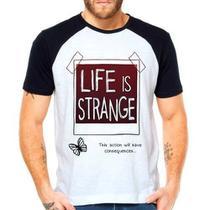 Camiseta Life Is Strange Raglan Manga Curta - Eanime