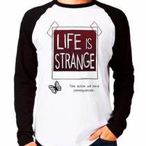 Camiseta Life Is Strange Raglan Manga Longa - Eanime