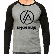 Camiseta Linkin Park Banda Raglan Mescla - Eanime