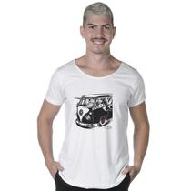 Camiseta Long Line Estampada