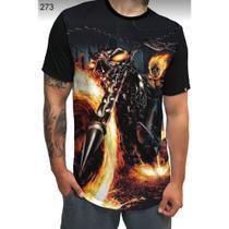 Camiseta Long Line - Motoqueiro Fantasma - Tamanho M - Horizonte