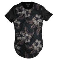 Camiseta Longa Florida Casual Havaiana Swag - Di nuevo