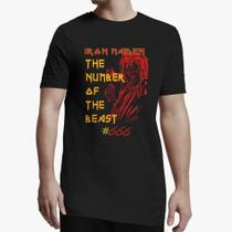 Camiseta Longline - Iron Maiden The Number of the Beast - Snap way