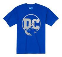 Camiseta Malha DC Logo baby Look Adulto Piticas Azul M -