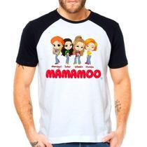 Camiseta Mamamoo Kpop Integrantes Raglan Manga Curta - Eanime