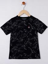 Camiseta Manga Curta Infantil Para Menino - Preto - Fico