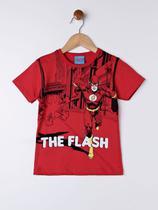 Camiseta Manga Curta Infantil Para Menino - Vermelho - DC
