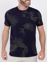 Camiseta Manga Curta Masculina Azul Marinho - Fico