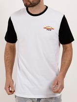 Camiseta Manga Curta Masculina Branco - Fico