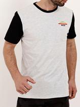 Camiseta Manga Curta Masculina Cinza - Fico
