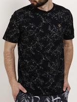 Camiseta Manga Curta Masculina Preto - Fico