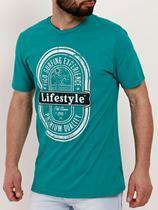 Camiseta Manga Curta Masculina Verde - Fico
