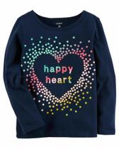 Camiseta Manga Longa Carters - Happy Heart - Mod 235G918