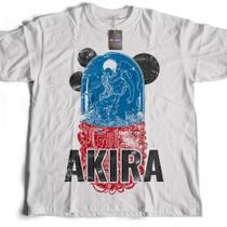 Camiseta masculina Akira Anime Anos 80 Camisa branca - Live comics