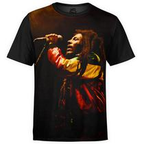 Camiseta masculina Bob Marley Estampa Digital md01 - Over fame