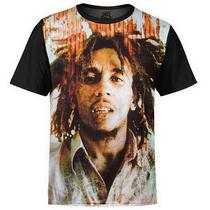 Camiseta masculina Bob Marley Estampa Digital md02 - Over fame