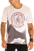 Camiseta Masculina Camping Estampa Frontal Ecológica - Area Verde -