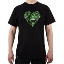 Camiseta Masculina Coração Tamanho G NVIDIA -