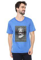 Camiseta masculina eco canyon busto azul blue - Eco Canyon Store