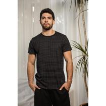 Camiseta masculina estampada Xadrez Pontilhada - Opus -